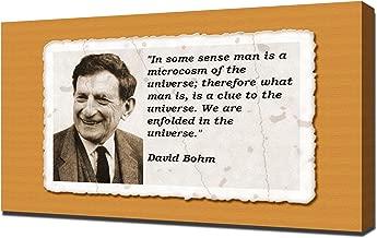 David Bohm Quotes 2 - Canvas Art Print