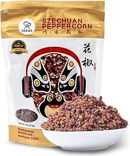 Soeos Premium Szechuan Peppercorns (4 OZ) , Grade AAA Sichuan Peppercorns, Less Seeds, Strong Flavor, Szechuan Flavor Peppercorns, Essential Ingrediant for Mapo Tofu, Kung Pao Chicken.
