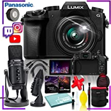Panasonic Lumix DMC-G7 Mirrorless Micro Four Thirds Digital Camera + Corel Program Kit + Samson G Track Pro USB 24-bit Studio Condenser Mic + Maintenance Kit