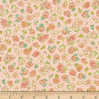 Robert Kaufman Alphonse Mucha Small Flowers Digital Fabric, Pink, Fabric By The Yard