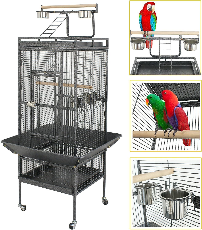 """LEMY 61"""" 68"""" Albuquerque Mall Iron Colorado Springs Mall Play Top Large Bird Cage Bi Pet"""