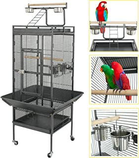 SUPER DEAL PRO 61''/ 68'' 2in1 Large Bird Cage with Rolling Stand Parrot..