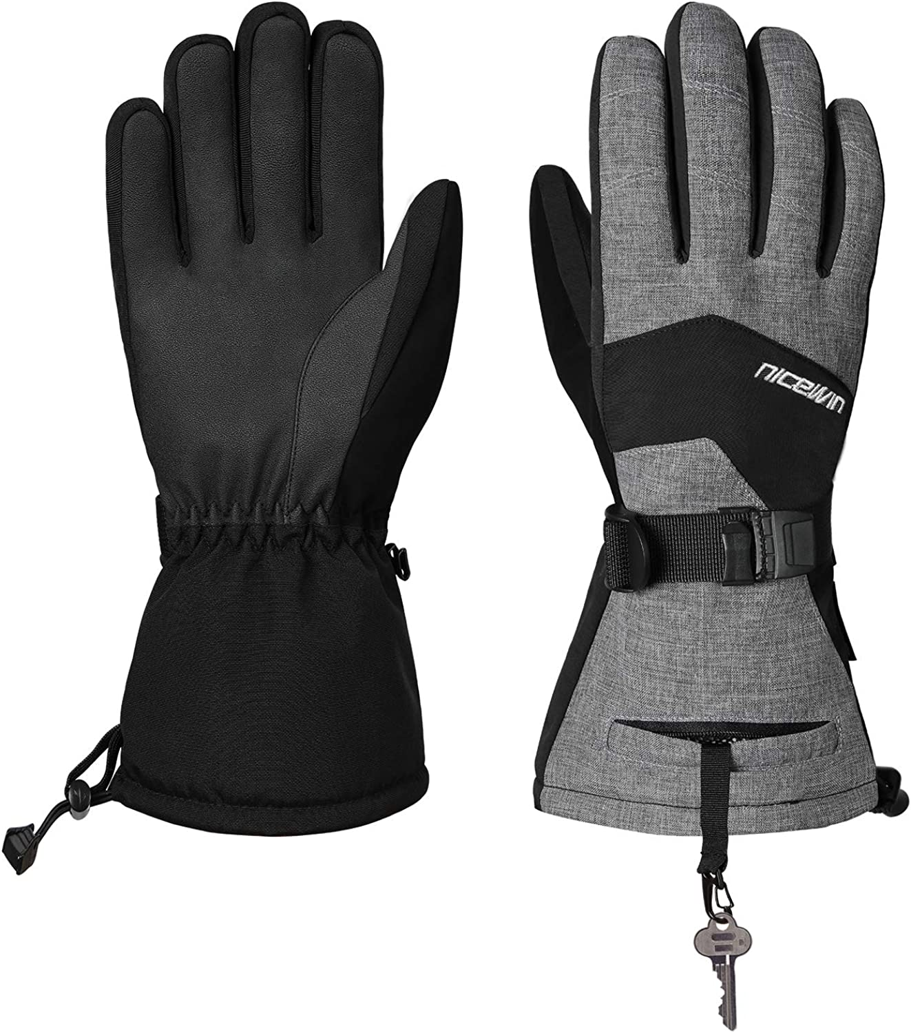Cold Weather Warm Ski Gloves for Men Women Windproof Winter Gloves for Outdoor Sports Skiing Snowboarding Shovelling Snow S