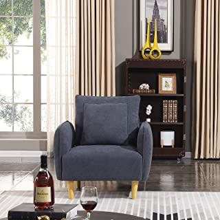 HONBAY Sofa Chair Fabric Arm Chair for Living Room Accent Chair Bluish Grey