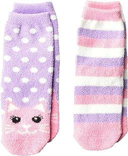 Cat Fuzzy Slipper Socks 2-Pack (Toddler/Little Kid/Big Kid)