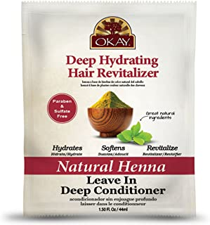 OKAY | Natural Henna Leave In Conditioner | For All Hair Types & Textures | Deep Hydrating Hair Revitalizer | With Natural...