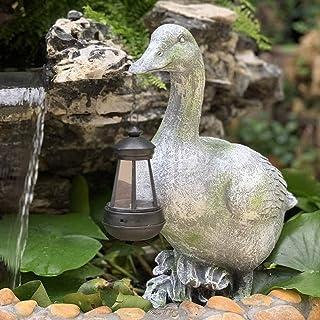 Trädgårdsprydnader simulering dricka anka soldrivna utomhuslampor vattentät harts trädgårdsstaty för gård gräsmatta dekora...