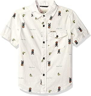 Boys' Short Sleeve Printed Button Down Shirt