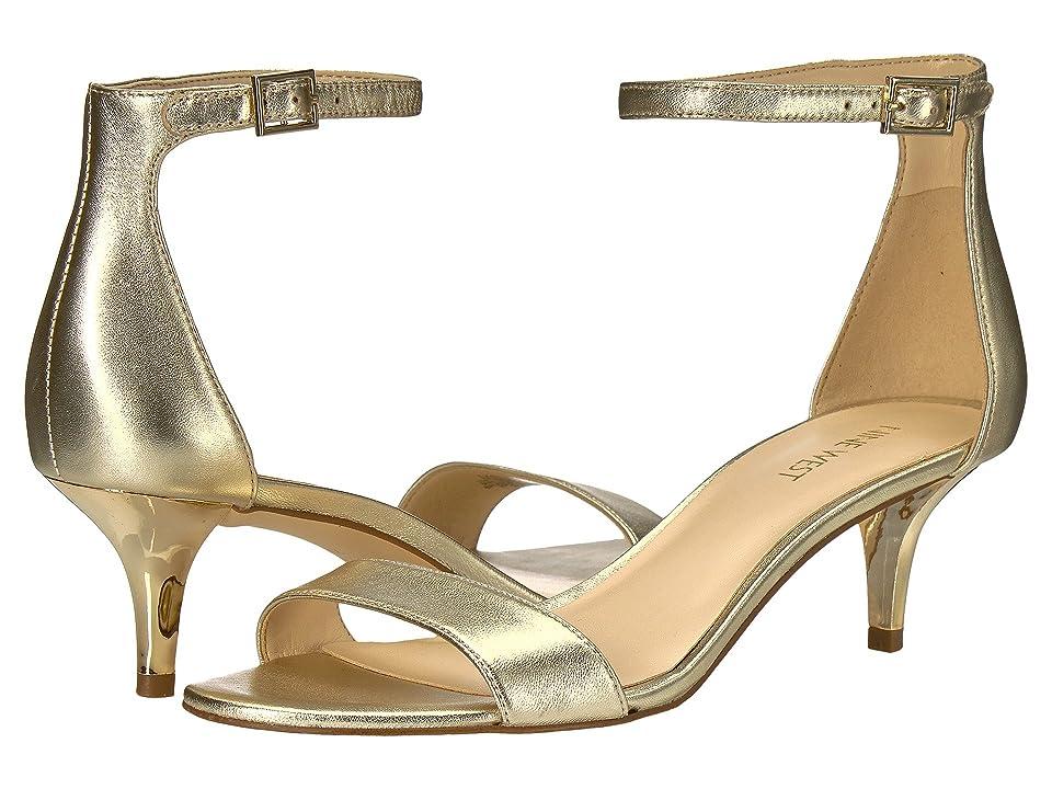 Nine West Leisa Heel Sandal (Light Gold Metallic) Women