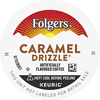 Folgers Caramel Drizzle Flavored Coffee K Cup Pods for Keurig K Cup Brewers, 96 Count