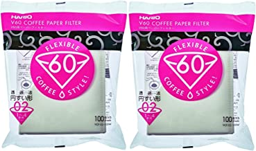 Hario V60 Paper Coffee Filters Size 02, White, Tabbed, 200-count,