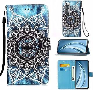 CRABOT Funda para Xiaomi Mi 10S Cover Case Ranura para Tarjeta Billetera Patrón de en 3D Hebilla Magnética Cubierta Protec...