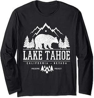 Lake Tahoe California - Bear Mountains Nature Camping Gift Long Sleeve T-Shirt
