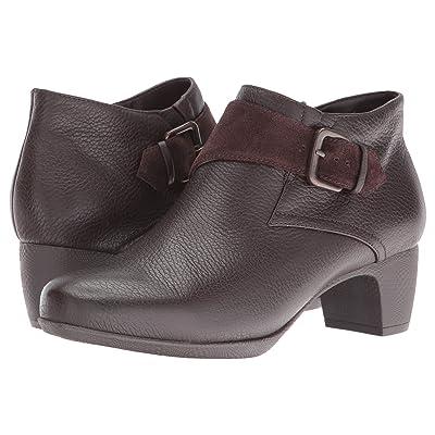 SoftWalk Imlay (Dark Brown Veg Tumbled Leather/Cow Suede) Women