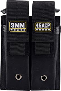 Raiseek Molle Double Pistol Mag Pouch Single and Double Stack Magazine