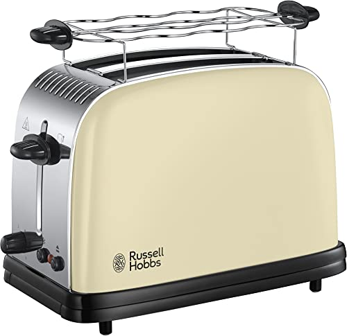 Russell Hobbs Toaster, Grille Pain Extra Large, Cuisson Rapide et Uniforme, Contrôle Brunissage, Chauffe Vionnoiserie...