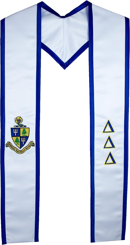 Delta Delta Delta Sgoldrity Deluxe Embroidered Tri Delta Graduation Stole