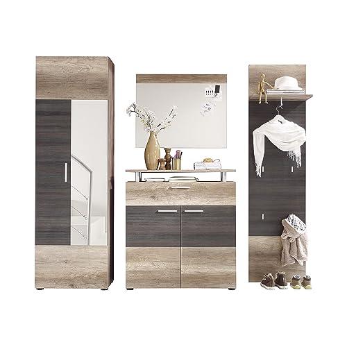 trendteam smart living garderobe garderobenkombination 4 teiliges komplett set polo 230 x 191 x