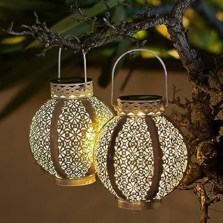 2 Pack Solar Lantern Outdoor 8 Lumens Outdoor Solar Lanterns Waterproof Solar Lanterns Outdoor Decorative