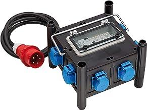 Brennenstuhl Compacte rubberen stroomverdeler met gecertificeerde stroomonderbreker (2m kabel, 7x 230 V/16 A, bouwplaatsge...