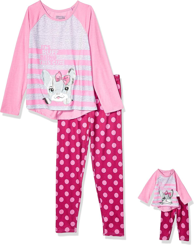 Saint Eve Girls Me /& My Dream Doll Jersey//Silky Fleece Pajama Set