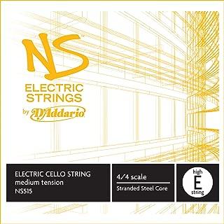 D'Addario NS Electric Cello Single High E String, 4/4 Scale, Medium Tension