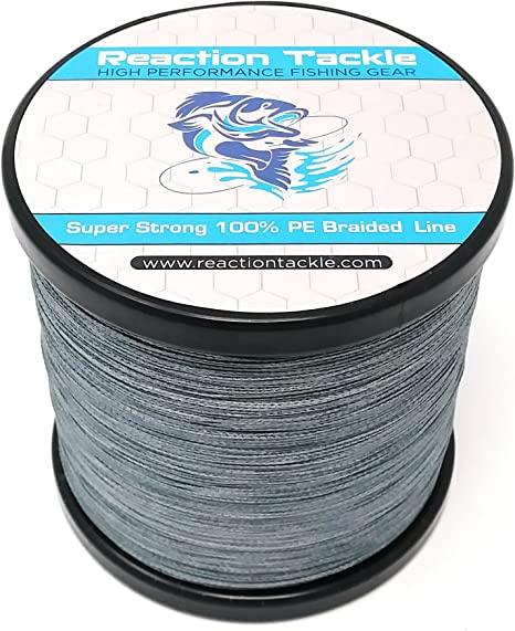 Reaction Tackle High Performance Braided Fishing Line in Multiple Sizes /& Color