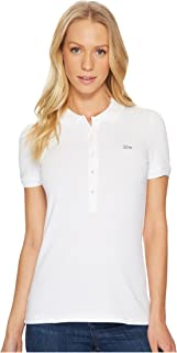 Womens Classic Short Sleeve Slim Fit Stretch Pique Polo Shirt