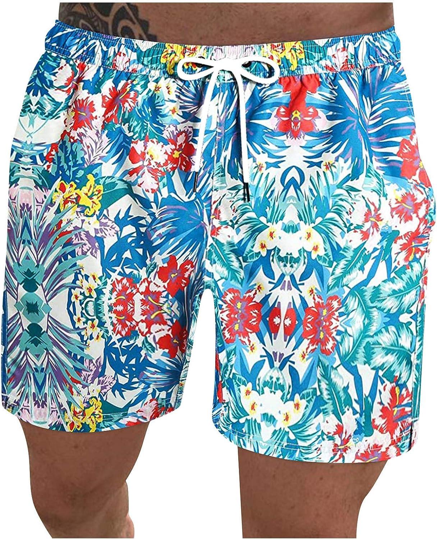 2021 Mens Summer Casual Fitness Bodybuilding Printed Pockets Beach Shorts Pants