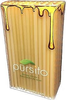Pina Colada Honey Sticks 100 Flavored Bulk Honey Stix Gift Box or Honey Straws Honey Stick for Tea, Coffee or Snacking Pursito Brand Honeystix