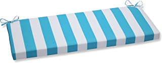 Pillow Perfect Outdoor Cabana Stripe Bench Cushion, Turquoise