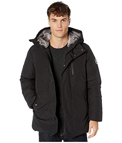 Save the Duck Copy 9 Hooded Parka with Faux Fur Lining (Black) Men