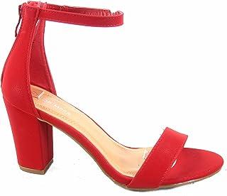 00b35e466b48 Top Moda Women s Hannah-1 Ankle Strap High Heel Sandal