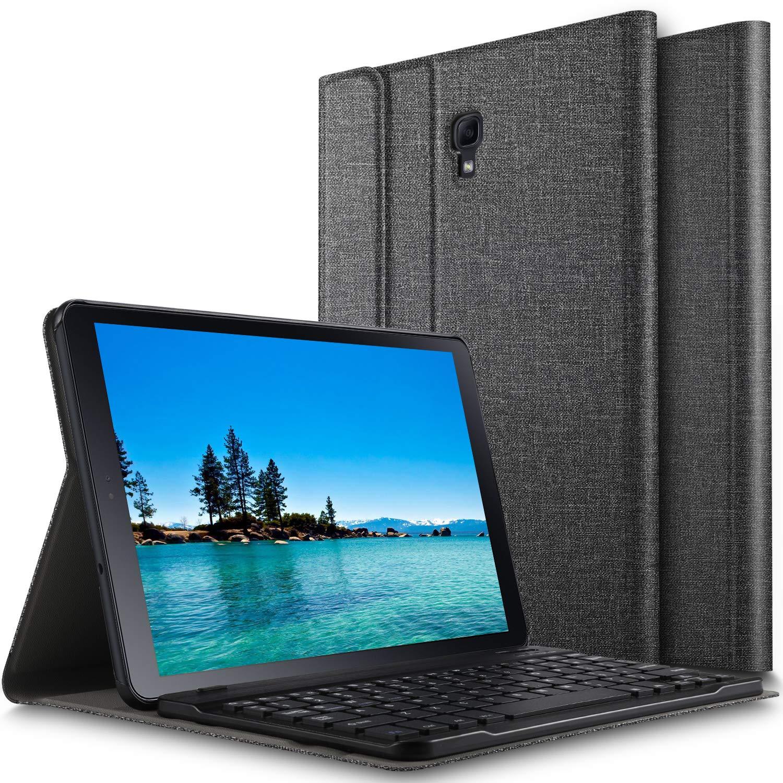 ELTD Teclado Estuche para Samsung Galaxy Tab A 10.5 SM-T590/T595,[QWERTY diseño en inglés], Protectora Funda con Desmontable Wireless Teclado para Samsung Galaxy Tab A 10.5 SM-T590/T595, (Gris): Amazon.es: Electrónica