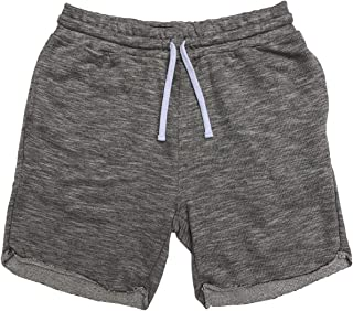 FLVFF Men Fleece Shorts Relaxed fit Casual Classic Jogger Gym Above Knee Bermuda Pockets (F2)