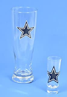 Dallas Cowboys, Pilsner Glass and Shot Glass Set, for a Shot and a Beer.