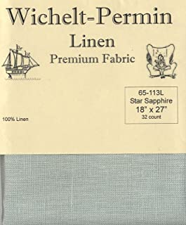 Wichelt-Permin Premium Linen Fabric for Cross Stitch Star Sapphire 32ct 18