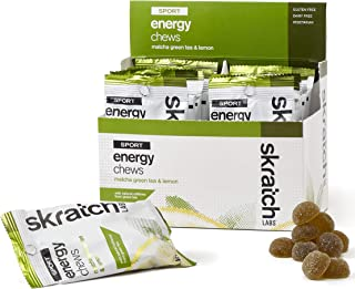 SKRATCH LABS Sport Energy Chews, Matcha Green Tea and Lemon (10 pack) - Natural, Developed for Athletes and Sports Performance, Gluten Free, Dairy Free, Vegan