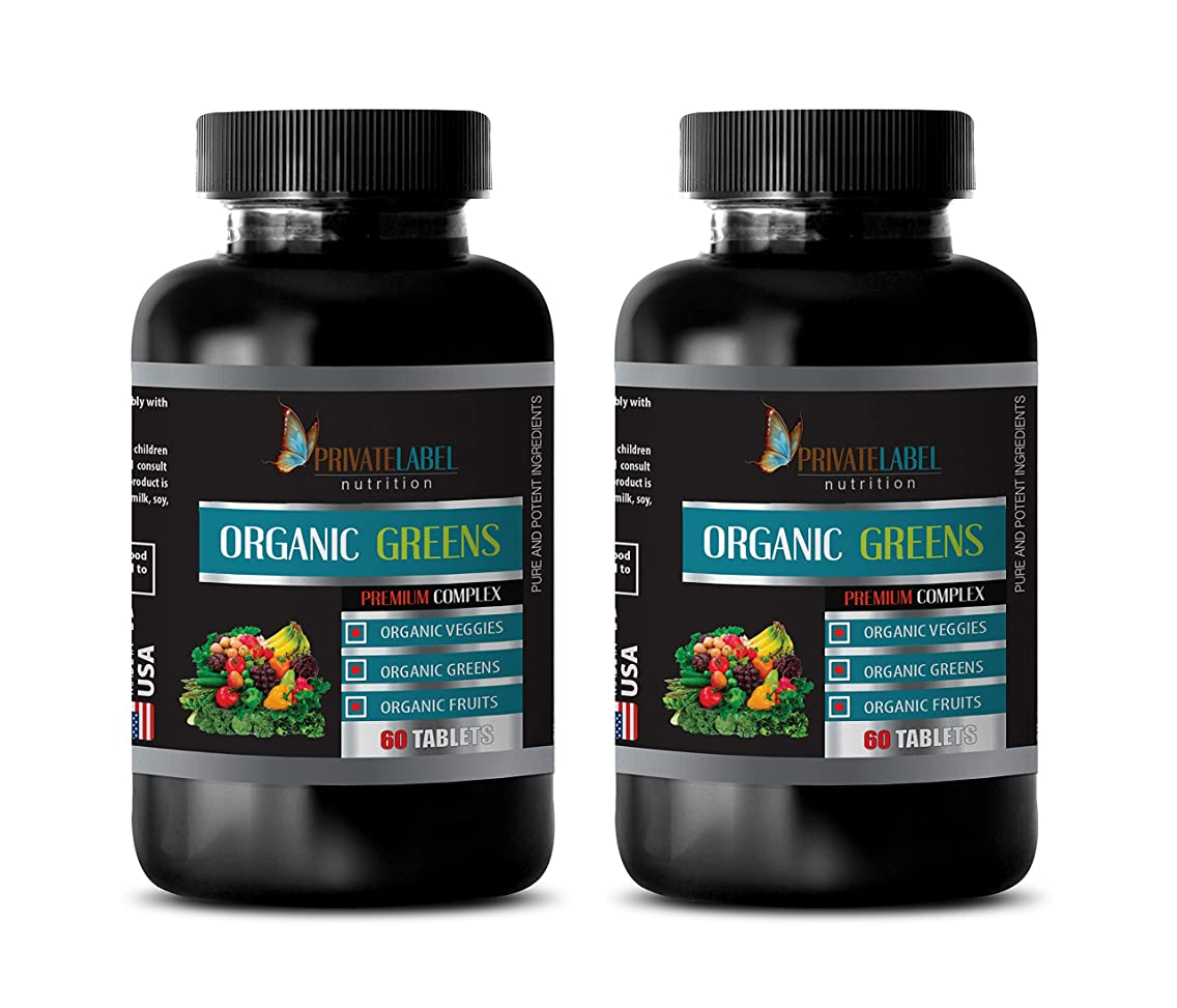 Heart Care Supplement - Organic Greens Premium Complex - Ginger Extract for Testosterone - 2 Bottles 120 Tablets
