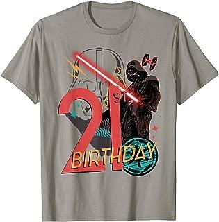 Star Wars Darth Vader 21st Birthday Abstract Background T-Shirt