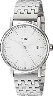 Vestal ' Sophisticate 36 Metal' Swiss Quartz Stainless Steel Dress Watch, Color:Silver-Toned (Model: SP36M03.7SVM)