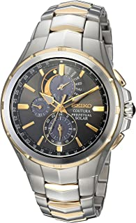 Men's COUTURA Japanese-Quartz Watch with Two-Tone-Stainless-Steel Strap, 12 (Model: SSC376)