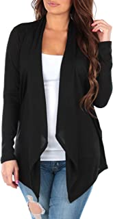 Women's Hacci Draped Open Front Cardigans Made in USA