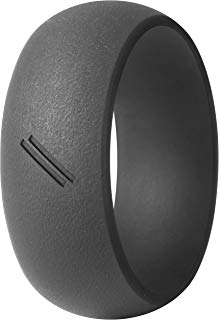 ThunderFit Silicone Wedding Ring for Men, Rubber Wedding Band