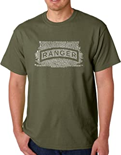 Men's Word Art T-Shirt - The US Ranger Creed- LA Pop Art