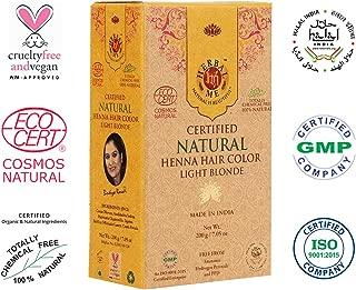 Herbal Me - Light Blonde Henna Hair Color 7.05 oz, CERTIFIED 100% Natural by Ecocert (France). VEGAN & HALAL approved, Zero chemicals