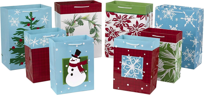 Hallmark Holiday Gift San Antonio Mall Bags Assortment Pack Medium of 9