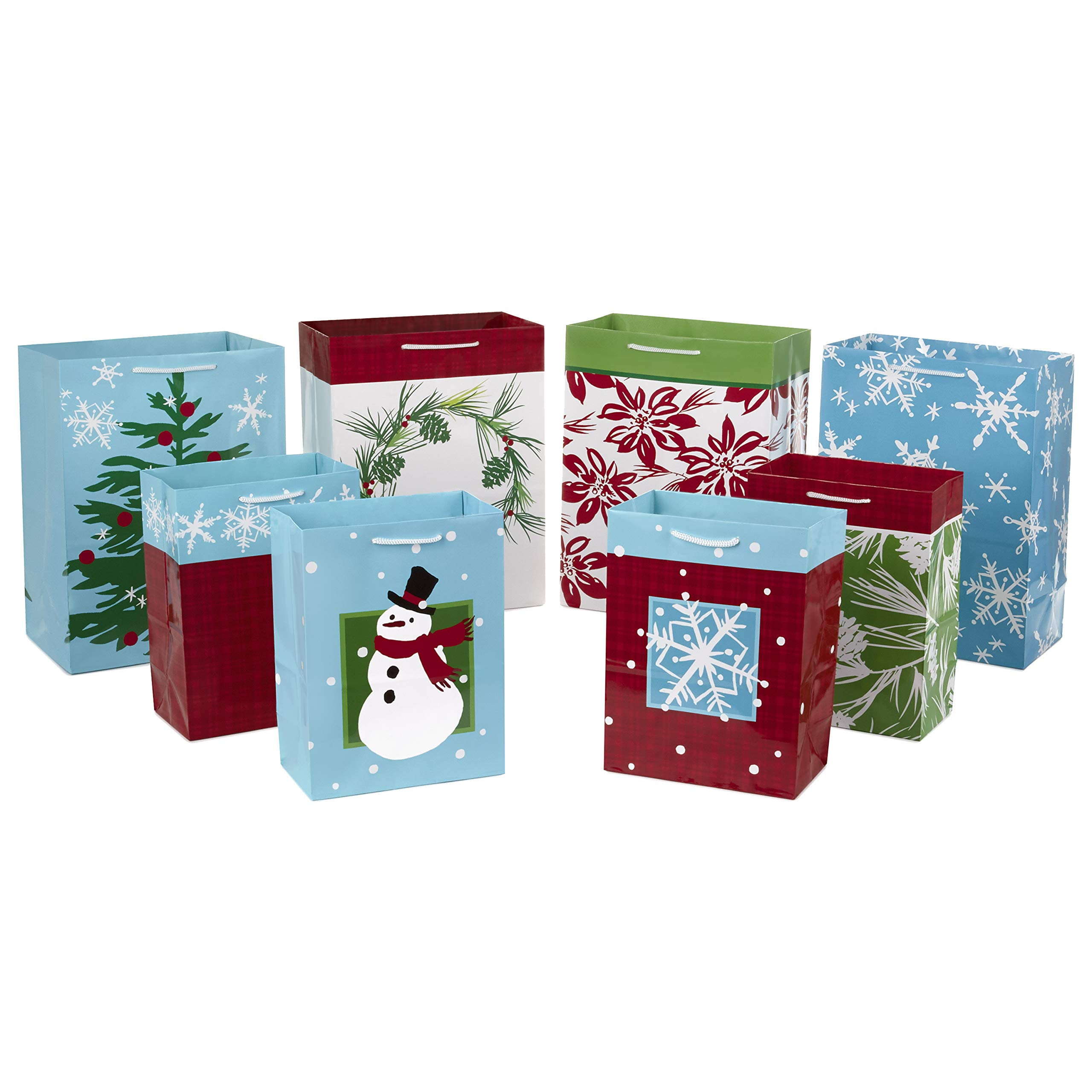 Christmas Gift Bags Set Bundle Reindeer Wrapping Present Xmas Gift