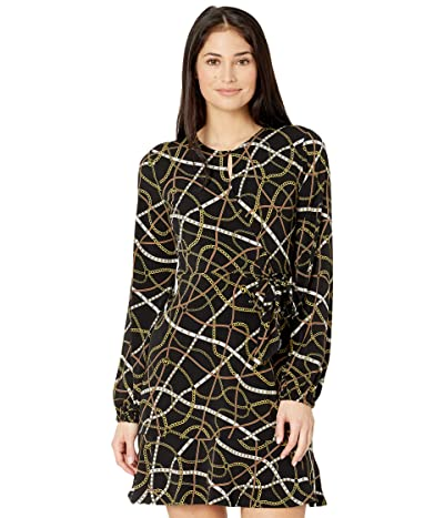 MICHAEL Michael Kors Petite Belt Print Mini Wrap Dress Women