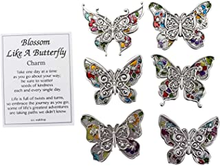 Ganz Blossom Like a Butterfly Charm Pocket Token with Story Card ~ Random Phrase Will be Chosen ~ 1 Token & Card